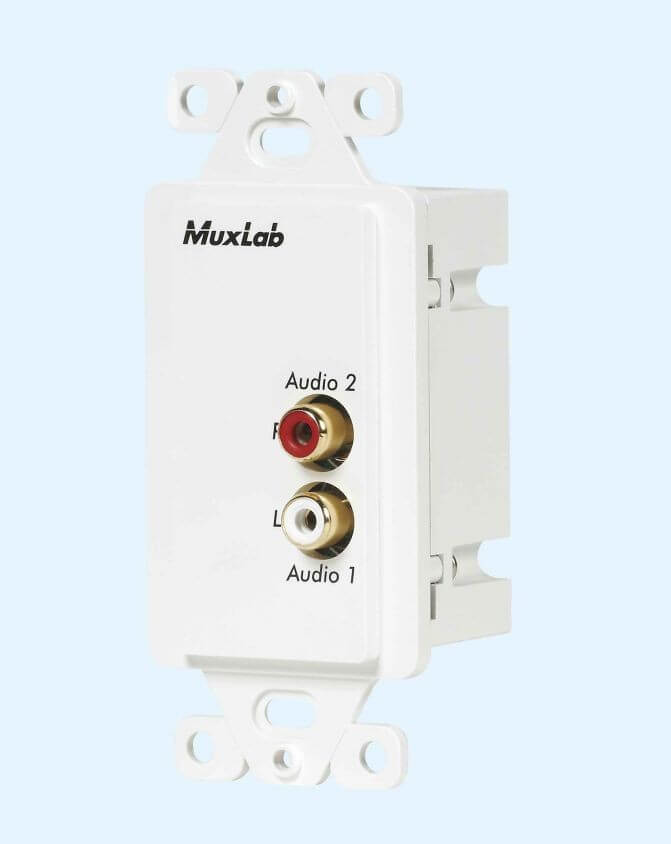 MuxLab In-Wall Stereo HiFi Balun MU 500028 WP-US
