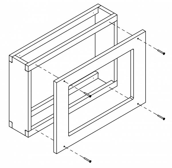 Wall-Smart Concrete-Box / Concrete Adaptor für Wall Smart Invisible Mount (New Construction)