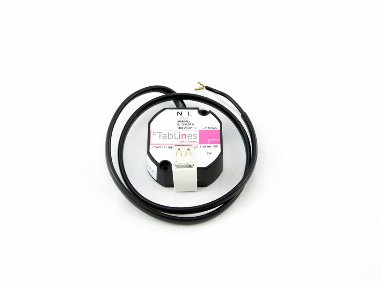 TabLines TNT001 Wandeinbau USB Netzteil für Tablets