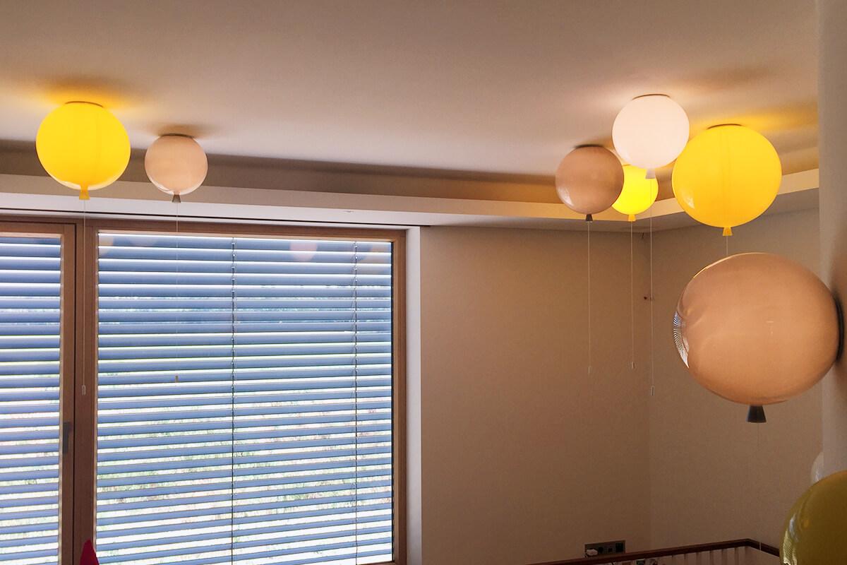 Luftballon Beleuchtung im Kinderzimmer