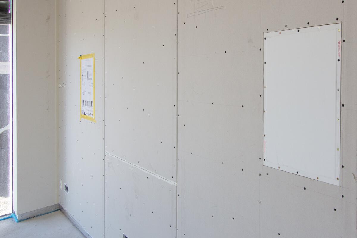 Unsichtbare Lautsprecher werden hinter Wänden verputzt