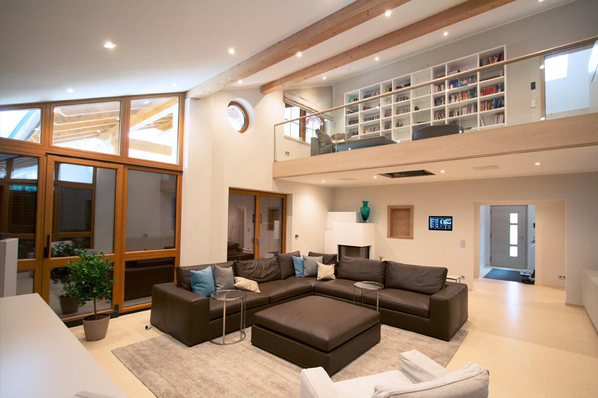 smart home villa mit knx und multiroom video in münchen | casaio, Wohnzimmer