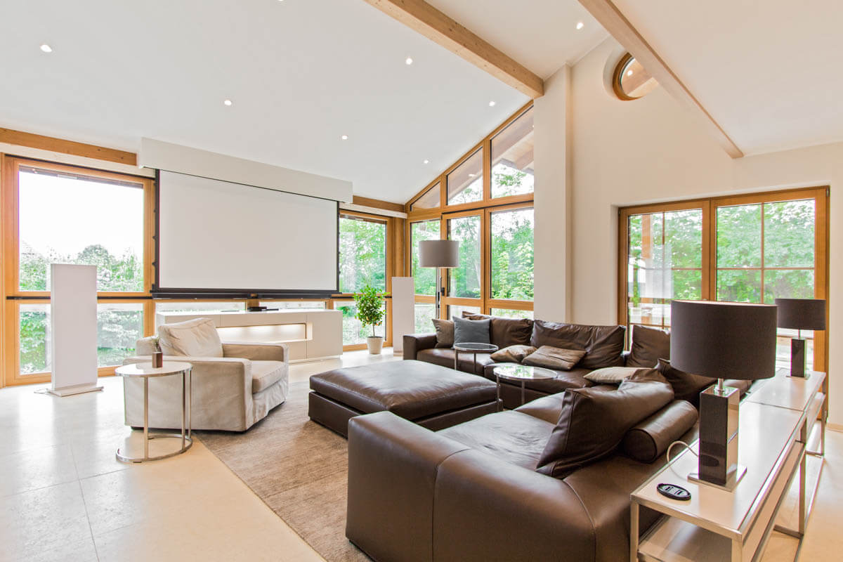 Multimedia Wohnzimmer | Smart Home Munchen Gebaudeautomation Mit Knx Casaio