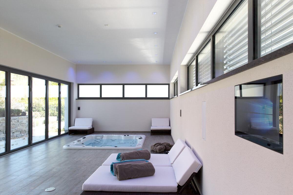 Poolhaus mit Whirlpool