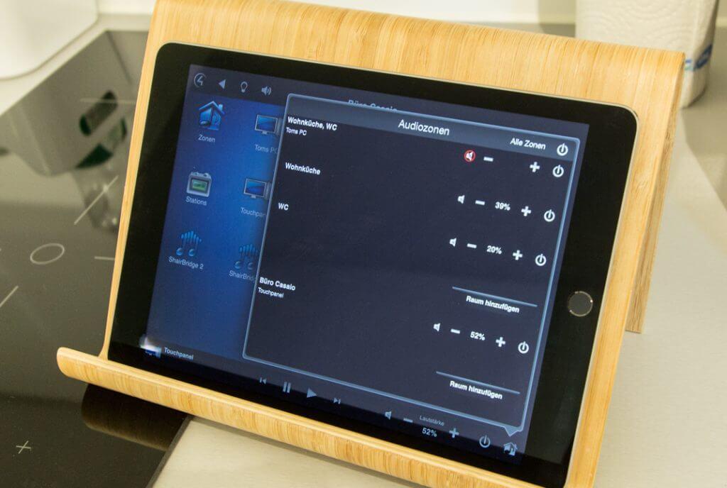 Multiroom Zonen verwalten mit iPad