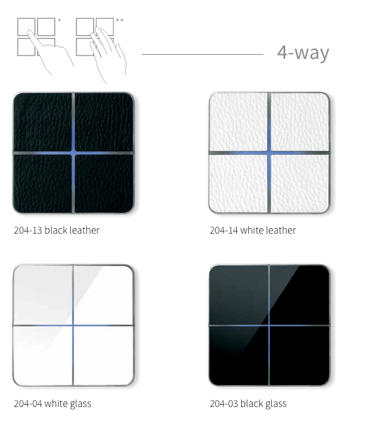 Tastsensoren enzo switch von Basalte mit vier Tasten