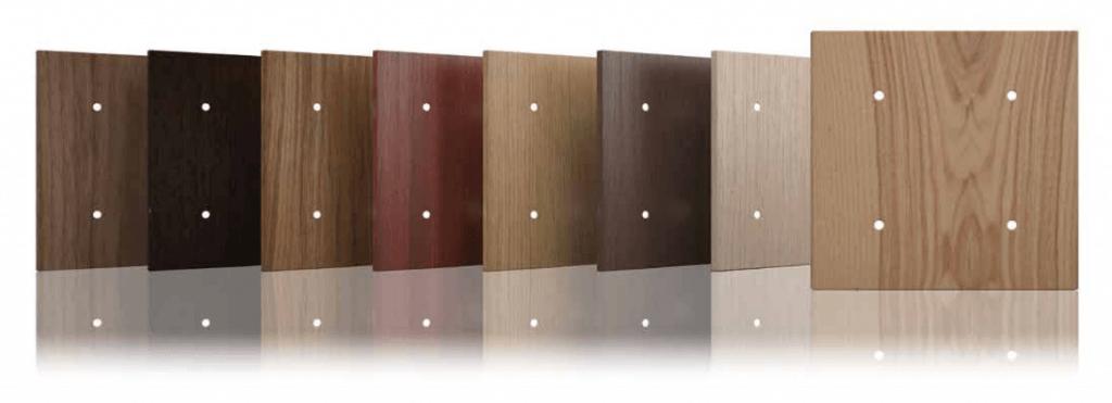 Tastsensoren in verschiedenen Holzoptiken von TENSE