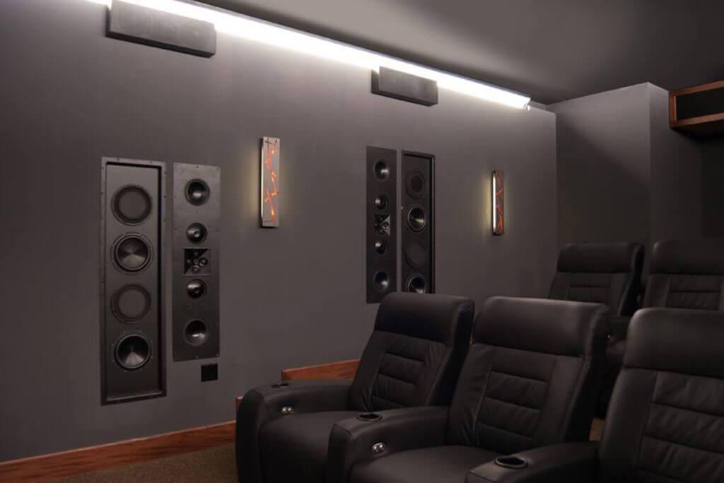 Heimkino mit Soundsystem in den Wänden