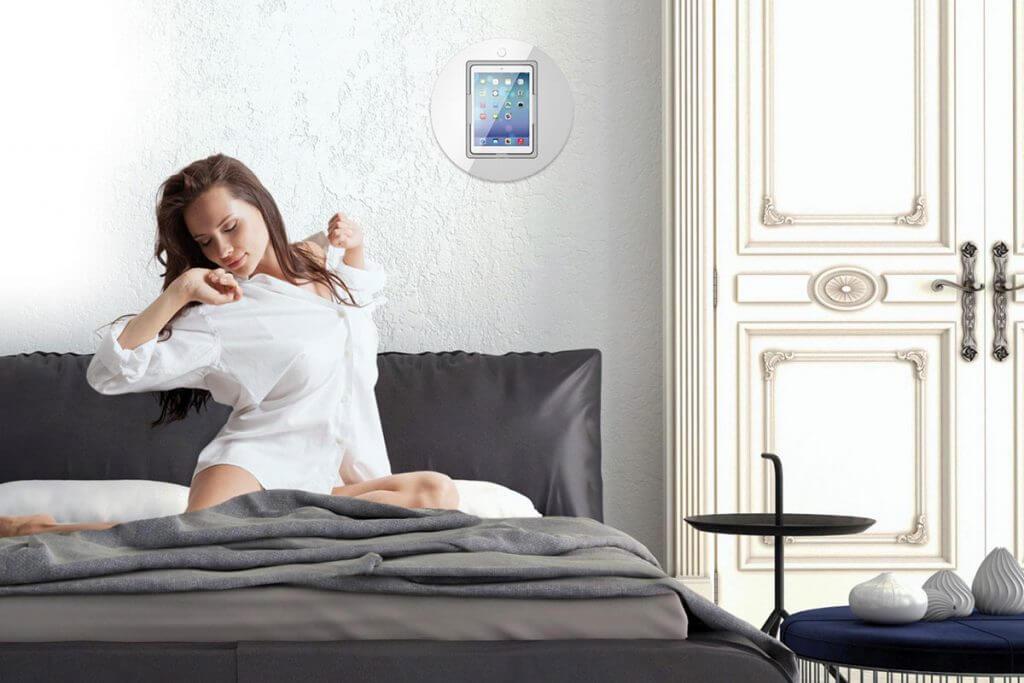 Viveroo iPad Wandhalterung Schlafzimmer