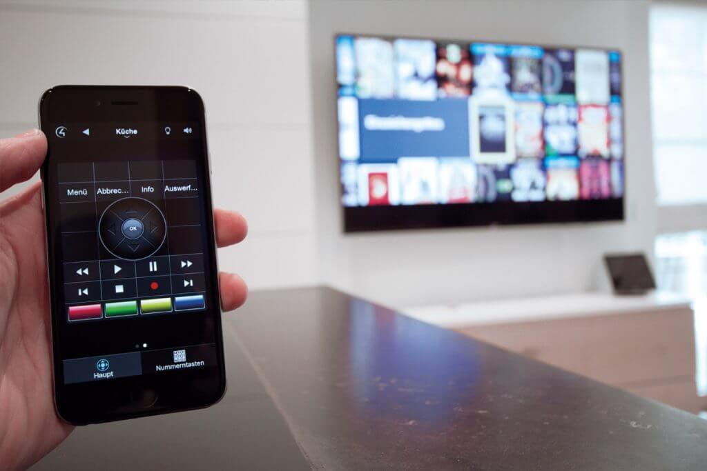 Smartphone Steuerung Video und Musik