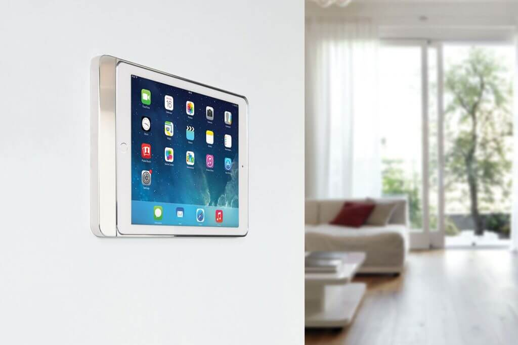iPad Wandhalterung silber