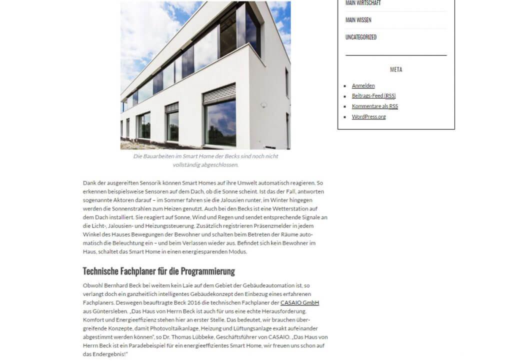 Pressetext: Casaio auf Main-Magazin.com