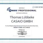 Z-Wave-Zertifikat von Thomas-Lübbeke