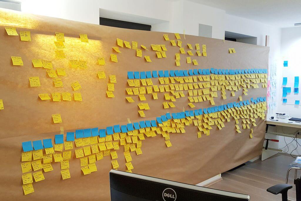 Nutzerstudie bei Casaio: Post it mit Notizen