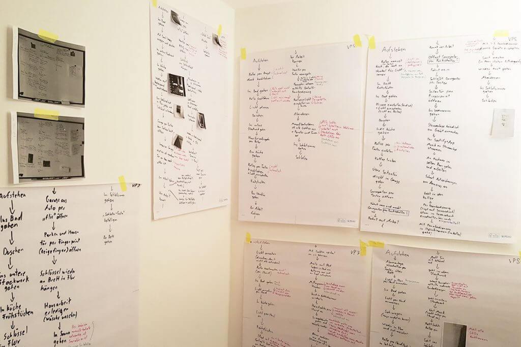 Nutzerstudie bei Casaio: Notizen an den Wänden